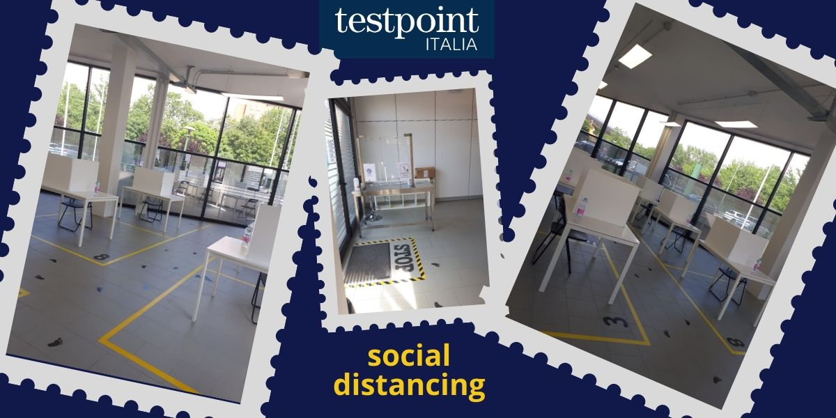 Distanziamento e sicurezza nelle location di Testpoint