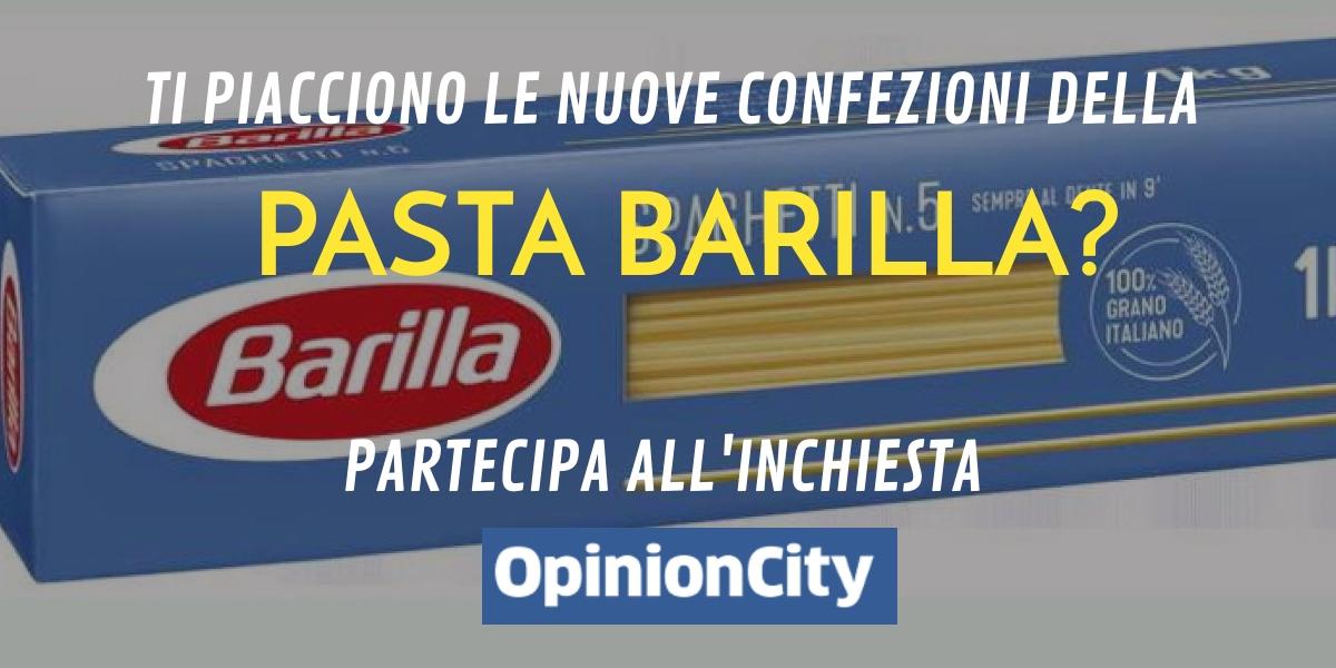 Ti piacciono le nuove confezioni della pasta Barilla