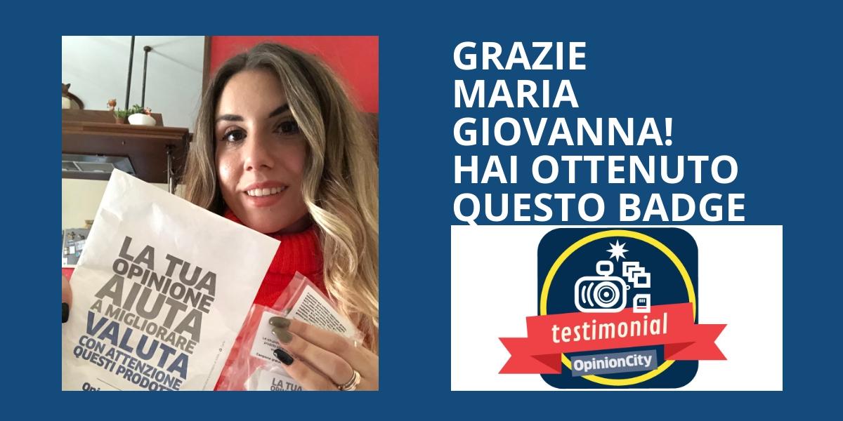 Testimonial. Maria Giovanna