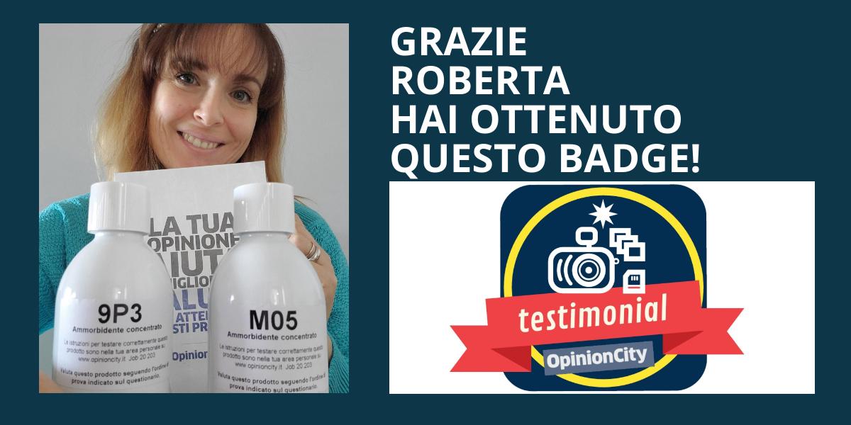 Testimonial. Roberta